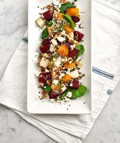 Roasted Beet, Pear & Walnut Salad Recipe
