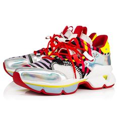 5d007e2df815e3 Red Runner Flat Version Multi Neoprene - Men Shoes - Christian Louboutin  Bad Fashion, Fashion