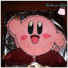 Nintendo Kirby birthday cake. By Andrena's Cakes