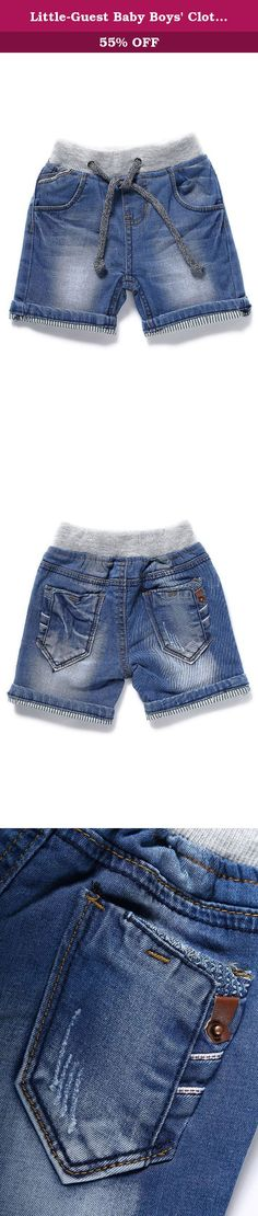 3bdeeb1f42 Little-Guest Baby Boys' Clothes Blue Knee-Length Jeans Shorts B201 (6-9  Months, Light Blue). Pay attention to our Size Chart: 6-9 Months  WAIST:48cm/18.7