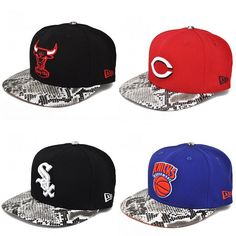 New Era Snakeskin Snapback Hats. I dont even wear hats. I got big hair. These are cool though.
