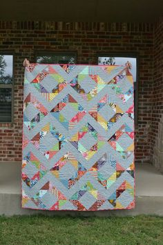My half square triangle quilt!