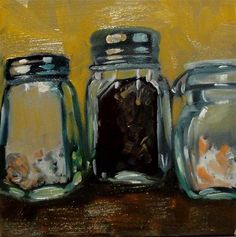 """""""Salts  and  Spices"""" - Original Fine Art for Sale - © by Cietha Wilson"""