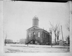 Johnston County Courthouse, Smithfield, NC, no date. This could be the second courthouse built in 1785 or the third one that was built in 1878. Albert Barden Collection, State Archives of North Carolina.
