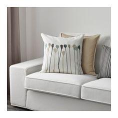 IKEA - SKOGSNÄVA, Housse de coussin, , Changez facilement le décor grâce aux motifs différents sur les deux faces.Facile de retirer la housse grâce à la fermeture à glissière.