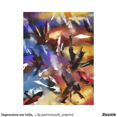 """Impression sur toile,  """"Abstract 1.1705"""""""