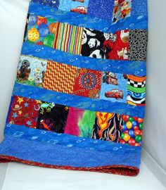 Handmade Quilt Patchwork Quilt for Boys by Quiltwear on Etsy