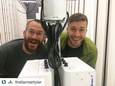 Great to hang out with @thefarmertyler and @chigginstraveler today at BAHQ. If you haven't watched any of his videos yet be sure to check out his feed for more great #hydroponics content. We can't wait for Farmer Tyler's Upstart University course on nutrient fertilizers. Stay tuned!  #agtech #urbanfarming #verticalfarming #indooragriculture #wyoming #zipgrow by zipgrow
