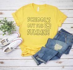 School's Out For Summer Missy LuLu's Teacher Shirts Teacher Tees End Of School Teacher Shirt
