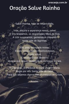 Oração Salve Rainha #salverainha #oração #oracaoja
