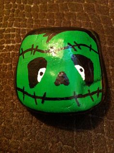 Hand painted rock Frankenstein by CasualZen on Etsy, $10.00