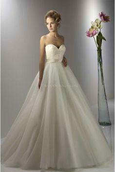 Prinzessin Elegante Luxuriöse Brautkleider aus Softnetz mit Perlenstickerei
