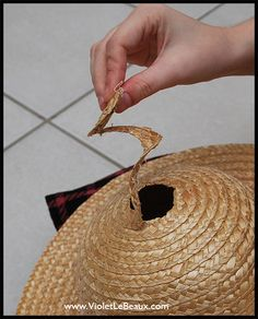 diy raffia hat | How To Make A Straw Boater Hat – Diy Cancan Hat Tutorial ^_^