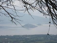Panorámica del Lago de Pátzcuaro y sus Islad desde el Cerro del Estribo Grande