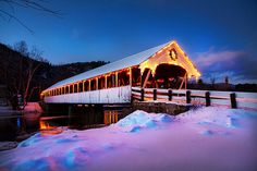 Covered Bridge, Stark, New Hampshire by Rob Clifford, via Flickr