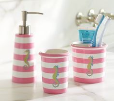 Seahorse Bath Accessories | Pottery Barn Kids