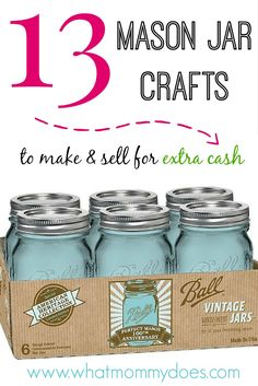 13 mason jar crafts to make sell for extra cash crafts for Simple things to make and sell