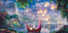 Him finally gave me my Mother's Day present lmao Thomas kinkade tangled painting :) Disney Desktop Wallpaper, Laptop Wallpaper, Wallpaper Pc, Disney Dream, Cute Disney, Disney Art, Thomas Kinkade Disney, Princesa Rapunzel Disney, Disney Tangled