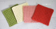 Solid Granny Square Crochet Pattern (Grit Stitch) - Repeat Crafter Me