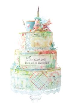 For those of us who can't bake, Andrea Ockey Parr shares her technique for creating a happy, scrappy fabric cake inside Sew Somerset. Arts And Crafts, Paper Crafts, Diy Crafts, Hanging Quilts, Cloth Paper Scissors, Baby Food Storage, Unicorns And Mermaids, Pastel Palette, Button Cards