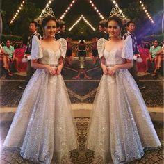 Sta. Cruzan ✨ Gown: @marlontuazonc  HMUA: @mariahsantos23 Modern Filipiniana Gown, Filipiniana Wedding, Wedding Gowns, Maria Clara Dress Philippines, Philippines Dress, Debut Dresses, Prom Dresses, Filipino Wedding, Filipino Fashion