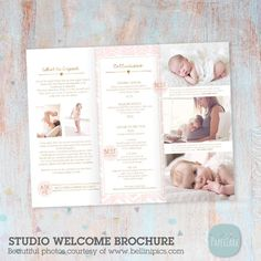 Photography Brochure, Photography Contract, Photography Business, Newborn Photography, Photography Ideas, Zine, Newborn Photos, Baby Photos, Adobe Photoshop