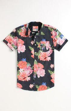 Modern Amusement Diner Short Sleeve Woven Shirt