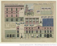 Hôtel de ville de Pienza en Toscane, Imagerie d'Epinal, Pellerin, 1884