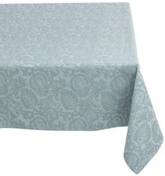 Amazon.com: Mahogany Leaf Baroque 60-Inch by 90-Inch 100-Percent Cotton Jacquard Tablecloth, Wedgewood Blue: Home & Kitchen