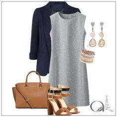Look para o trabalho - Elegante e ideal para quem tem corpo com formato oval [quando a cintura é a medida mais larga da silhueta]