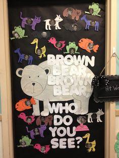Brown Bear theme week - Brown bear classroom door