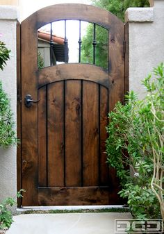 Maybe distressed blue (btw navy and regular blue) for this gate between house and fence and for back side gate to big tree/back planter area Backyard Gates, Garden Gates And Fencing, Garden Doors, Wooden Garden Gate, Wooden Gates, Side Gates, Entry Gates, Front Gates, Door Gate