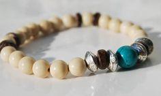 Yak Bone and Turquoise Mala Bracelet / by BohoBeachJewelry on Etsy, $4.00