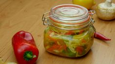 """This is """"Čalamáda moc dobrá"""" by Toprecepty on Vimeo, the home for high quality videos and the people who love them. Czech Recipes, Pickles, Stuffed Peppers, Make It Yourself, Vegetables, Cooking, Food, Ornament, Youtube"""