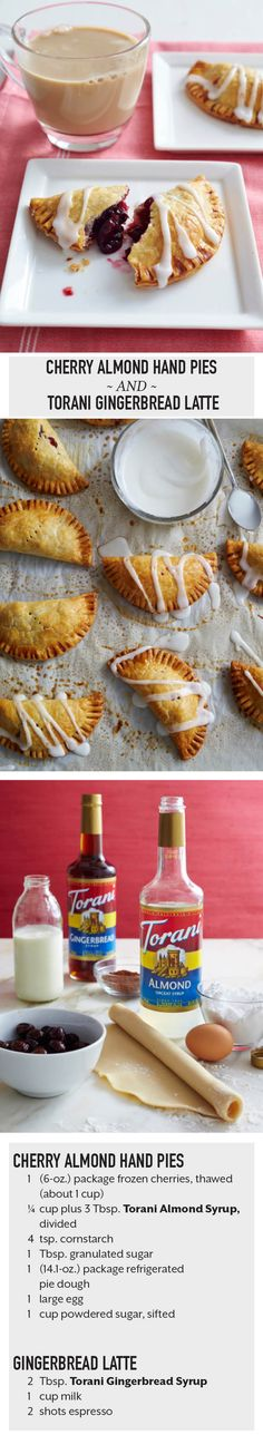 Cherry Almond Hand Pies and Torani Gingerbread Latte