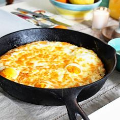 Baked Eggs with Crispy Hash Brown Crust