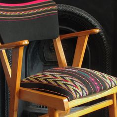 Titicaca Chair (pair available)- Hand Woven Bolivian Fabric - Furniture