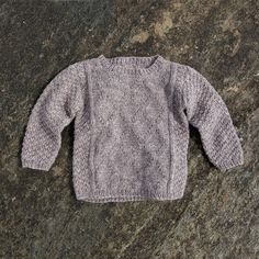 Lisa sweater by Susie Haumann from the book Warm Knit for Cool Kids. 2-8 years