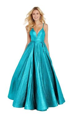 Alyce Paris - 60564 Shimmering Sleeveless High Slit A-Line Gown – Couture Candy Pagent Dresses, Formal Dresses, Sparkly Dresses, Illusion Dress, A Line Gown, Special Occasion Dresses, A Line Skirts, Evening Gowns, Glamour