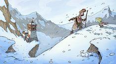 Snowtop adventure, Mike Cotton-Russell on ArtStation at https://www.artstation.com/artwork/nk0g4