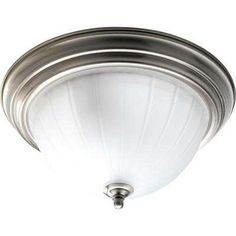 Brushed Nickel 2-Light Flush Mount