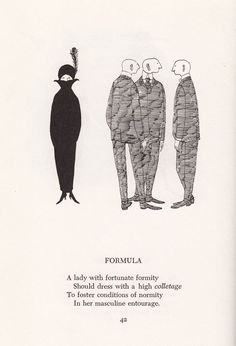 Scrap Irony: Irreverent Illustrated Cultural Commentary by Edward Gorey circa 1961 | Brain Pickings