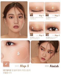 "Korean makeup tutorials: Use a ""hot spray"" just before running your hair before . - Korean makeup tutorials: Use a ""hot spray"" just before runn. Asian Makeup Looks, Korean Makeup Look, Korean Makeup Tips, Asian Eye Makeup, Asian Retro Makeup, Small Eyelid Makeup, Big Eye Makeup, Korean Makeup Products, Beauty Products"
