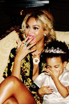 Beyoncé alongside her daughter Blue Ivy