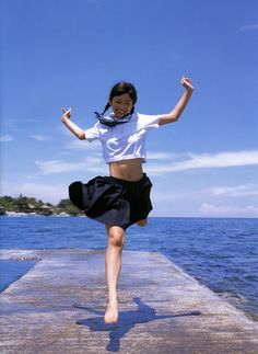 Asian Girls in School Uniforms School Uniform Girls, Girls Uniforms, School Uniforms, Cute Asian Girls, Cute Girls, Jumping Poses, Kawai Japan, Pose Reference Photo, Human Poses