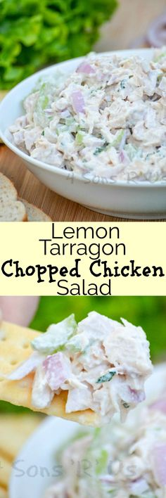 A creamy lunchtime staple, this Lemon Tarragon Chopped Chicken Salad is chock full of crunchy veggies and fresh herbs– making it the perfect thing for Spring.