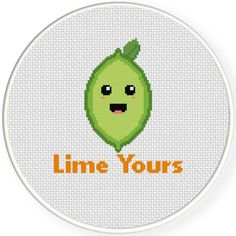 FREE for Jan 12th 2016 Only - Lime Yours Cross Stitch Pattern