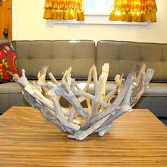 I love this tree branch driftwood bowl. || Gettin' Twiggy With It! A Look At Branch And Driftwood Accents!
