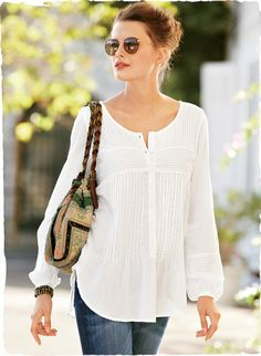 Comfy cotton top with great detailing...