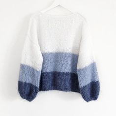 Oversized Knit Sweater Pattern with Bobbles Oversized knit sweater for kids is a very trendy piece of cloth this winter that doesn't require precise measurements. Master the kid's size before knitting one for yourself. Hand Knitted Sweaters, Mohair Sweater, Sweater Knitting Patterns, Cute Sweaters, Knit Patterns, Hand Knitting, Cable Sweater, Knitting Sweaters, Handgestrickte Pullover